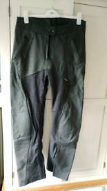 Ladies textile and leather biking trousers