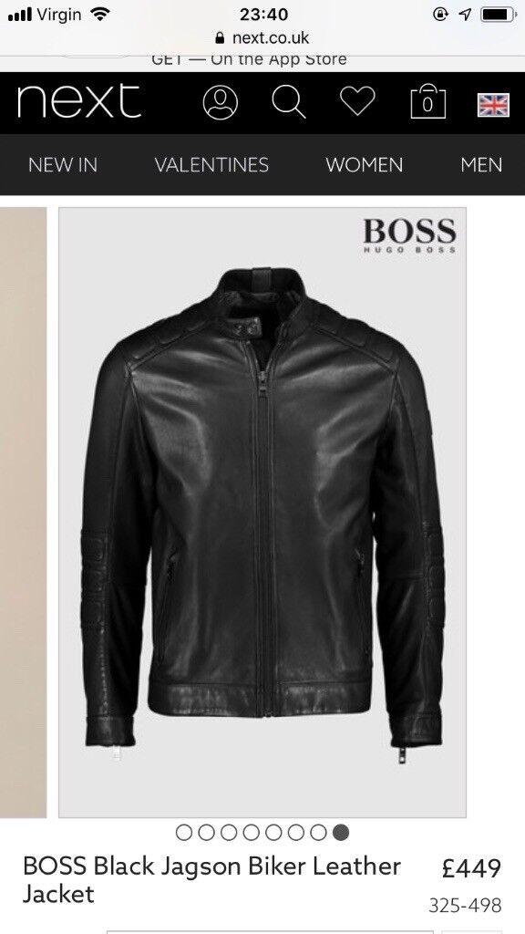 d415b2973 Brand new Hugo Boss Real leather Jacket | in Woking, Surrey | Gumtree