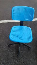 IKEA Alrik Children blue swivel chair