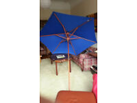 Umbrella/Parasol for Patio or Garden, Blue Canvas