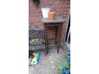 Large wooden garden stool