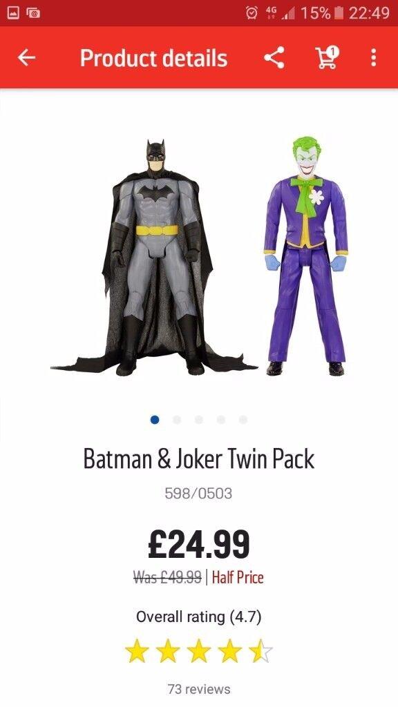 12 inch Batman & Joker figures BNIB