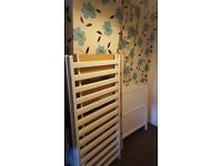 White cot bed for sale in good condition does from birth to 4 to 5 years