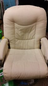 reclining comfy sofa chair cream
