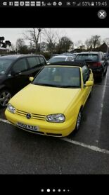 2002 VW Golf cabriolet GTI rare limited edition yellow colour concept model yellow leather seats
