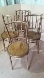 Set of 4 Bentwood Bistro dining chairs