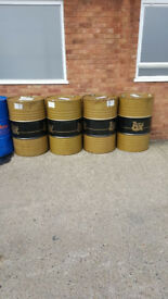 Plenty of used steal oil drum pan barrels available can cut barrel for wood burner bbq can deliver.