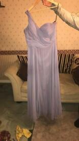 Purple bridesmaid dress size 18