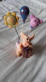 Pig ornament - birthday fun.