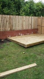 12foot by 8 foot decking fully instaled