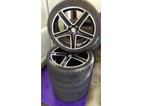 "18"" Alloy Wheels FOX R6 with tires FALKEN 245/35 R18 for FORD, VOLVO, JAGUAR, PEUGEOT"