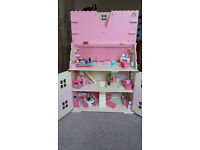 ELC Rosebud Cottage doll's house and accessories