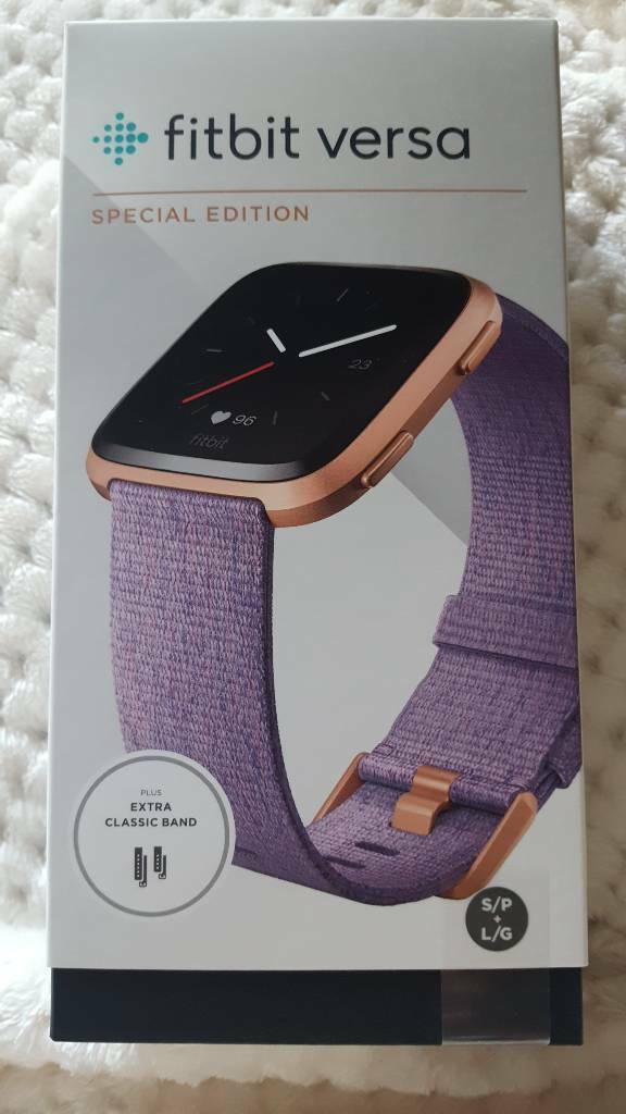 FITBIT VERSA BRAND NEW UNOPENED SPECIAL EDITION ROSE GOLD LAVENDER STRAP |  in Aylesbury, Buckinghamshire | Gumtree