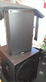 ALTO TS215A x 2 full range speakers