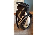 Black and white power caddy golf bag