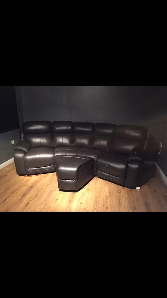 5 seater electrical reclining sofa