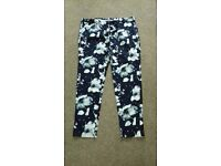 LADIES SUMMER PRINT TROUSERS SIZE 14