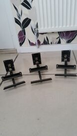 3 WALL SPEAKER STANDS