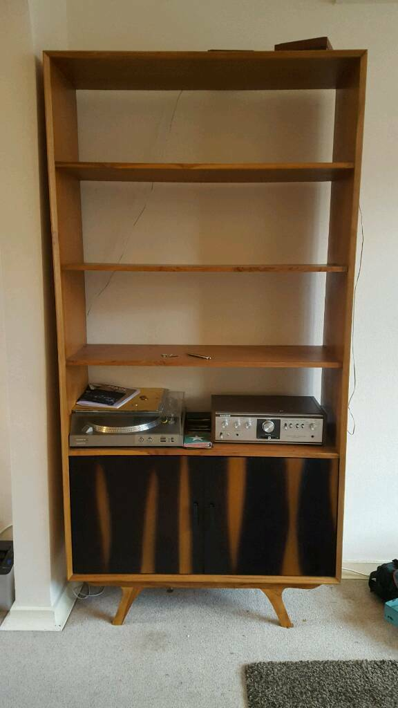 REDUCED mid century style solid wood bookcase