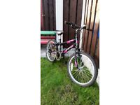 "Girls 20"" bike pink & black can deliver for a small charge"