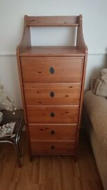 Tall, Slim Chest of Drawers