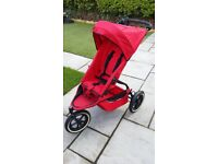 Phil & Teds Classic 3 wheels stroller, supplied with several accessories. Clean & good condition