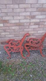 Vintage bench ends