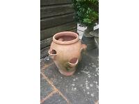 Strawberry terracotta urn