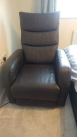 Electric reclining leather armchair great condition.