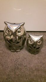 Set of Owl Tealight Burners