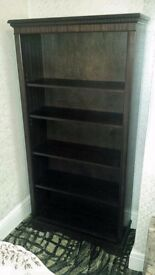 Display shelf/ Book case dark wood, good quality, excellent condition