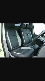 MINICAB CAR LEATHER SEAT COVERS MERCEDES VITO RENAULT TRAFFIC VAUXHALL VIVARO FORD TRANSIT CUSTOM