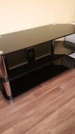 50inch black glass tv unit