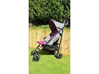 Joie Nitro Pushchair pink and grey