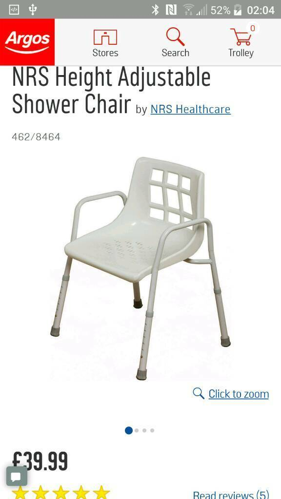 New NRS adjustable shower chair and spare parts | in Gorton ...
