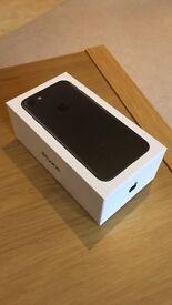 New iPhone 7, still in the box, 128GB, black, unlocked