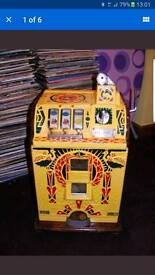 WANTED, vintage coin operated machines, one arm bandits, vending machine, etc...