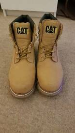 Caterpillar Tan suede ankle Colorado Boots.
