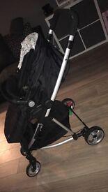Black stroller Pram like new