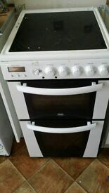 zanussi electric cooker in white with double oven grill