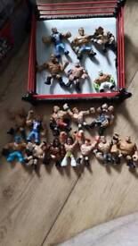 WWE RUMBLERS RAMPAGE BUS, RING AND FIGURES