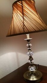 Brass and crystal style table lamps