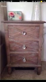 Shabby chic set of 2 bedside tables