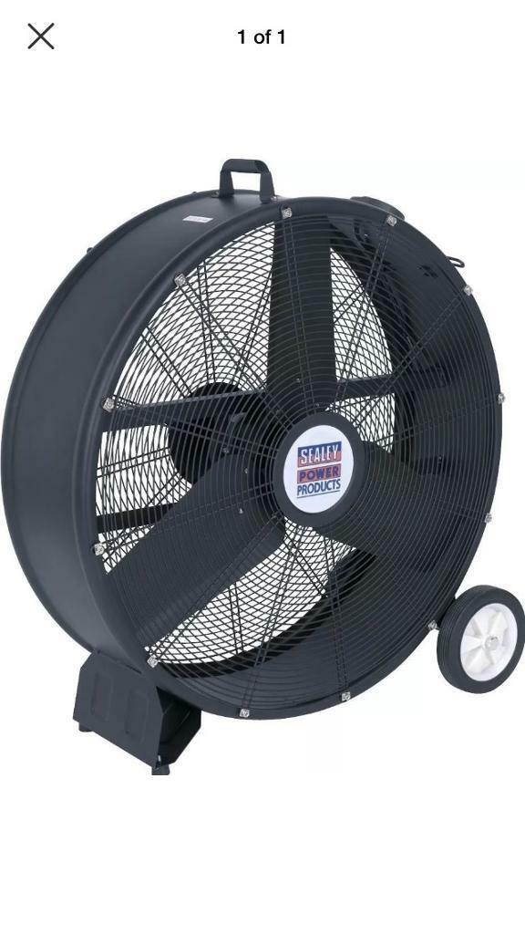 Sealey Industrial High Velocity Drum Fan 30 230v In Tower