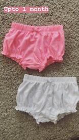 2 frilly shorts