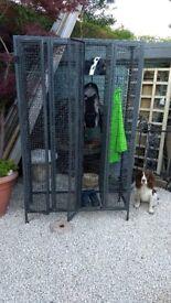 bank of 4mesh cage lockers