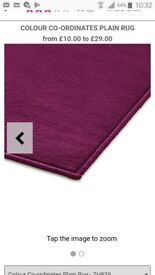 plum colour floor rug 120/170cm