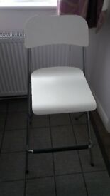 2 franklin-bar-stool-with-backrest-foldable-white-silver-colour