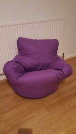 Kids purple bean bag chair