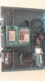 Makita 18v drill lxt+ battery+ 3 ah case